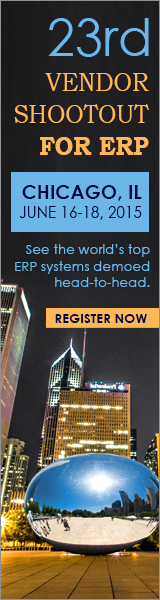 23rd Vendor Shootout for ERP - Chicago, June 16-18, 2015