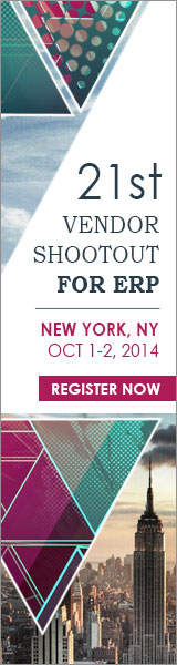 21th Vendor Shootout for ERP | New York, NY, October 1-2, 2014