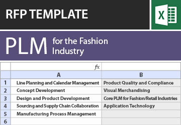 Rfp Template For The Fashion Industry Plm Software Tec