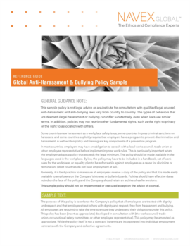 white paper reference guide global anti harassment and bullying policy sample
