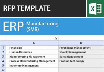 Erp for manufacturing smb rfp template saigontimesfo