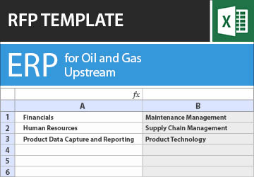 ERP for the Oil and Gas Industry (Upstream) RFP Template