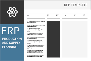 Production And Supply Planning Rfirfp Template