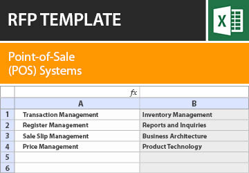 point of sale pos systems rfp template