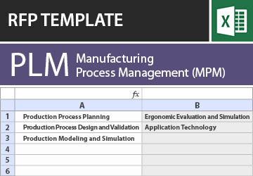 Manufacturing Process Management (MPM) RFP Template
