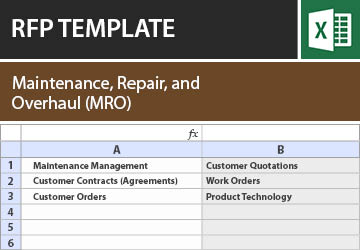 maintenance repair and overhaul mro rfp template