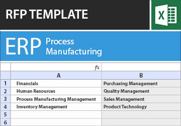 Erp For Process Manufacturing Rfp Template