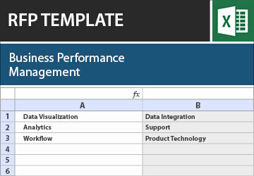 business performance management rfp template