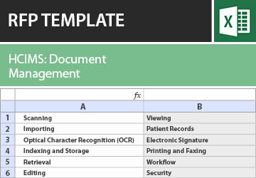 Document Management for the Health Care Industry RFP Template