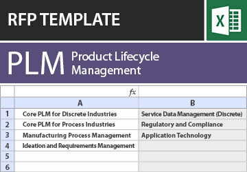 Engineering & Architecture RFP Templates: Software RFI in Excel | TEC