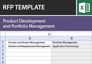 product development and portfolio management rfp template