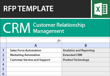 Customer Relationship Management (CRM) RFP Template