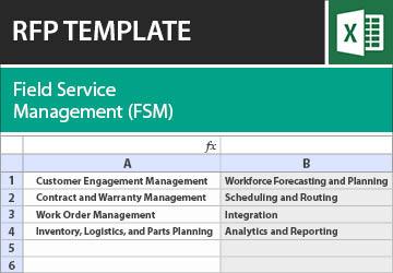 field service management fsm rfp template