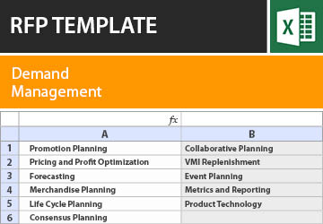 Demand Management RFP Template