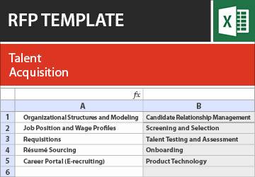 Talent Acquisition RFP Template
