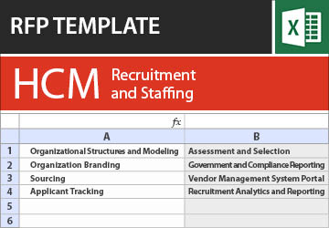 Recruitment and Staffing Software RFP Template
